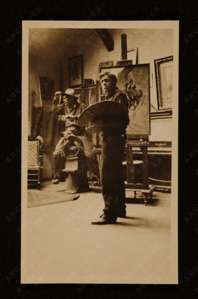 N.C. Wyeth en su estudio, 1904